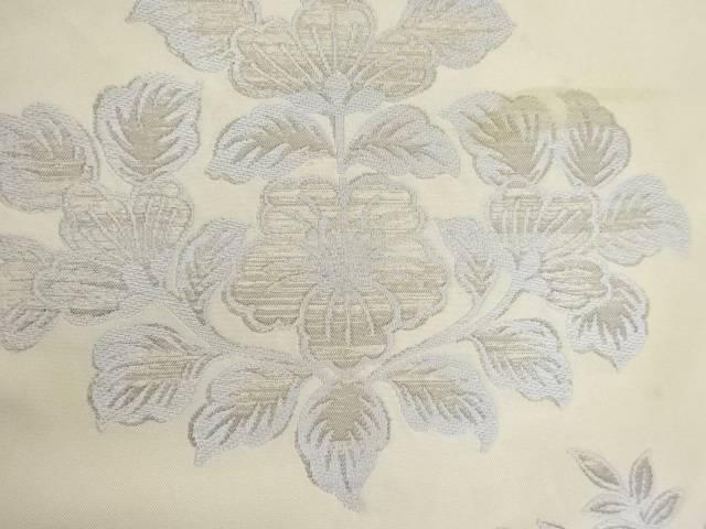 合計3980円以上の購入で送料無料 草花模様織出し名古屋帯 中古 正規品 アンティーク 蔵