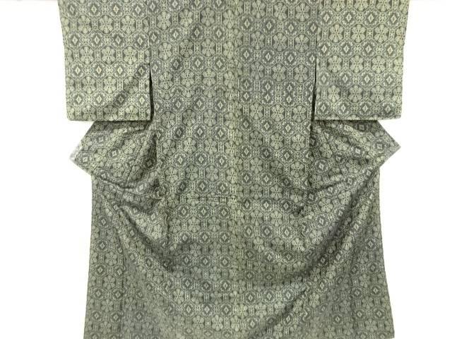 合計3980円以上の購入で送料無料 無料 蜀江に抽象模様織り出し西陣お召着物 格安SALEスタート 中古 リサイクル
