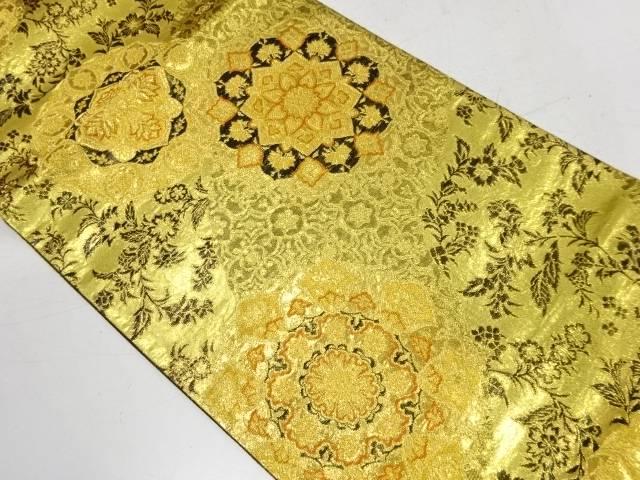合計3980円以上の購入で送料無料 プレゼント 華紋に花唐草模様織出し袋帯 リサイクル 出色 中古