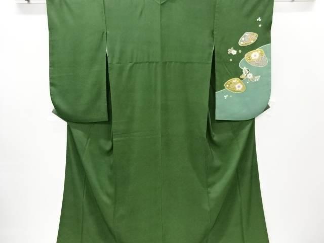 合計3980円以上の購入で送料無料 日本正規代理店品 貝合わせに八重桜模様袴上 重ね衿付き 中古 リサイクル 数量限定