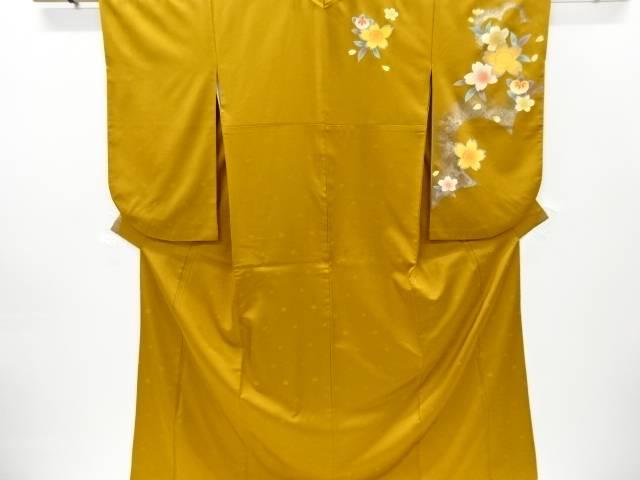 合計3980円以上の購入で送料無料 箔置桜に橘模様袴上 重ね衿付き 中古 本物 リサイクル 爆安プライス