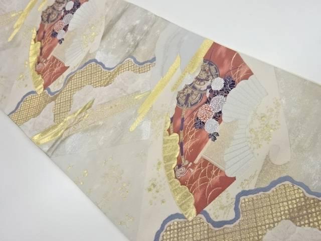 合計3980円以上の購入で送料無料 地紙に花模様織出し袋帯 トレンド リサイクル 中古 メーカー再生品