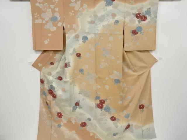 合計3980円以上の購入で送料無料 売買 菊模様訪問着 リサイクル 開店記念セール 中古