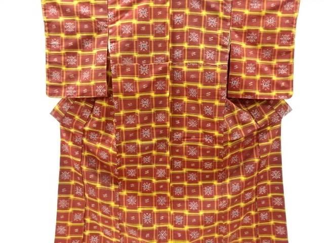合計3980円以上の購入で送料無料 本場琉球絣手織り真綿紬着物 中古 公式サイト 18%OFF リサイクル