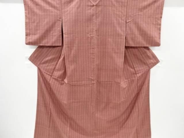 合計3980円以上の購入で送料無料 縞織り出し手織り真綿紬着物 ◆セール特価品◆ リサイクル 祝開店大放出セール開催中 中古