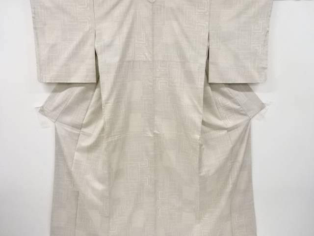 人気ブラドン 幾何学模様織り出し本場白大島紬着物(5マルキ)【リサイクル】, 日本製インナーのマリイクラブ 598c25dd