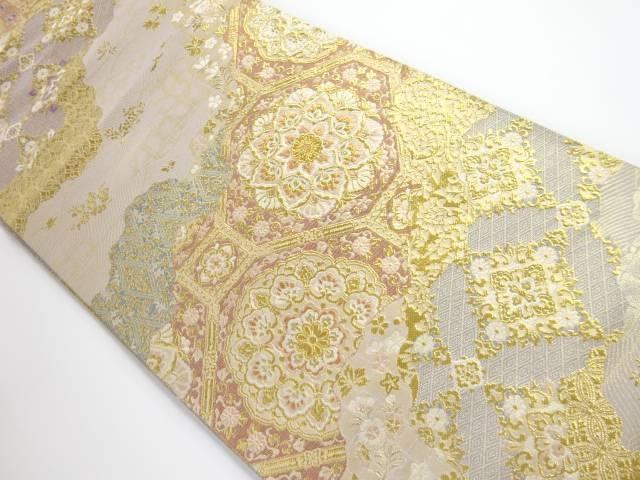 【驚きの価格が実現!】 道長取りに華文模様織り出し袋帯【リサイクル】, ヒロノマチ 4740f5d0