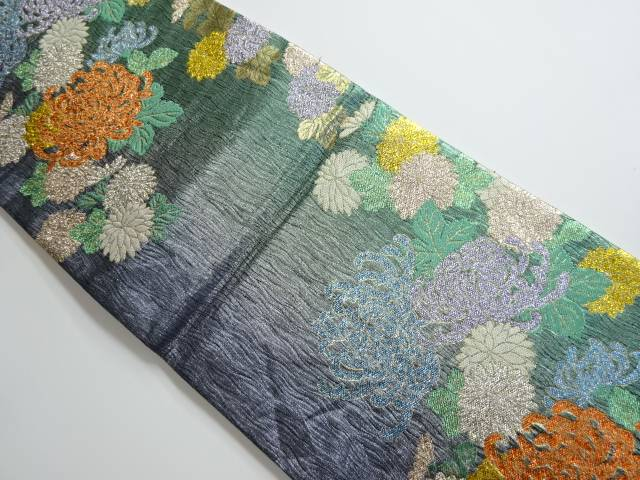 新作商品 京洛苑たはら 菊模様織り出し袋帯【リサイクル】, 綾歌郡 3c392ebc