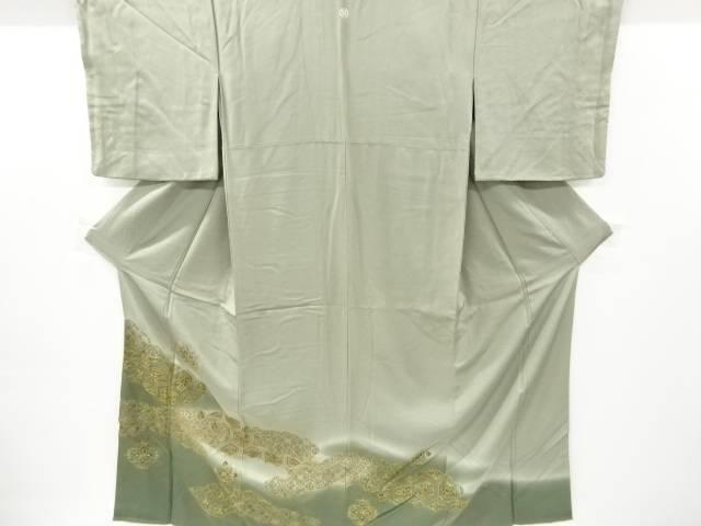 合計3980円以上の購入で送料無料 高級な 汕頭蘇州刺繍 雲取りに菱華紋模様一つ紋色留袖 リサイクル 中古 本日の目玉 比翼付き