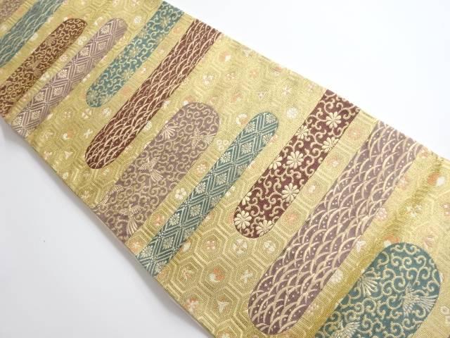 合計3980円以上の購入で送料無料 亀甲に唐草 花模様織り出し袋帯 中古 リサイクル 輸入 公式