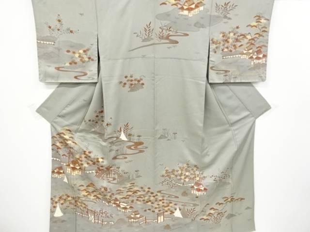 合計3980円以上の購入で送料無料 新品 家屋に松竹梅 菊模様刺繍訪問着 日本メーカー新品 中古 リサイクル
