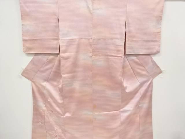 合計3980円以上の購入で送料無料 牡丹 メーカー在庫限り品 菊 中古 萩模様刺繍着物 SALENEW大人気! アンティーク