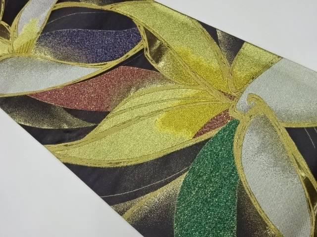 合計3980円以上の購入で送料無料 正規取扱店 花模様織出し袋帯 中古 リサイクル 保証