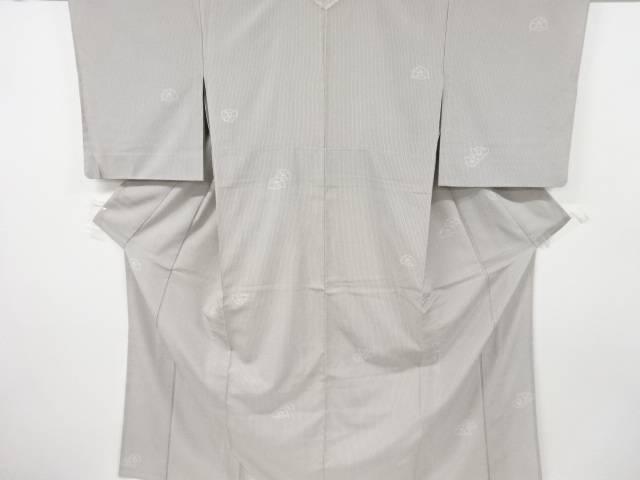 毎週更新 合計3980円以上の購入で送料無料 有名な 抽象模様織り出し本塩沢単衣着物 中古 リサイクル