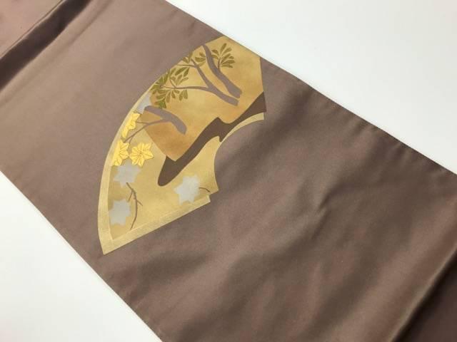合計3980円以上の購入で送料無料 未使用品 セットアップ 地紙に紅葉草木模様刺繍袋帯 通常便なら送料無料 中古 リサイクル