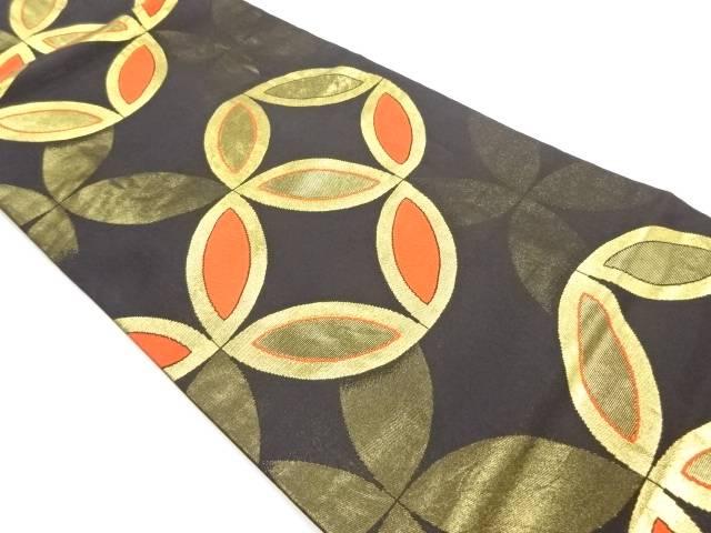 NEW ARRIVAL 合計3980円以上の購入で送料無料 川島織物製 倉庫 七宝模様織出し名古屋帯 中古 リサイクル