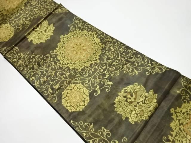 合計3980円以上の購入で送料無料 華紋に花鳥模様織出し袋帯 安い 激安 プチプラ 高品質 リサイクル 中古 定価