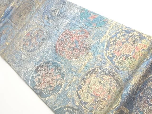 正倉院模様織り出し袋帯【リサイクル】【中古】 きりこ織