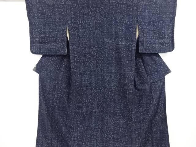 合計3980円以上の購入で送料無料 激安セール 更紗模様織り出し手織り真綿小千谷着物 中古 リサイクル 数量限定