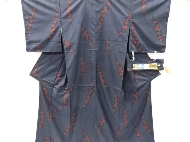 (訳ありセール 格安) 合計3980円以上の購入で送料無料 唐花模様織り出し本場泥大島紬着物 超目玉 5マルキ 中古 リサイクル