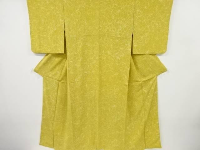 合計3980円以上の購入で送料無料 激安セール 蘭模様小紋着物 中古 リサイクル アイテム勢ぞろい