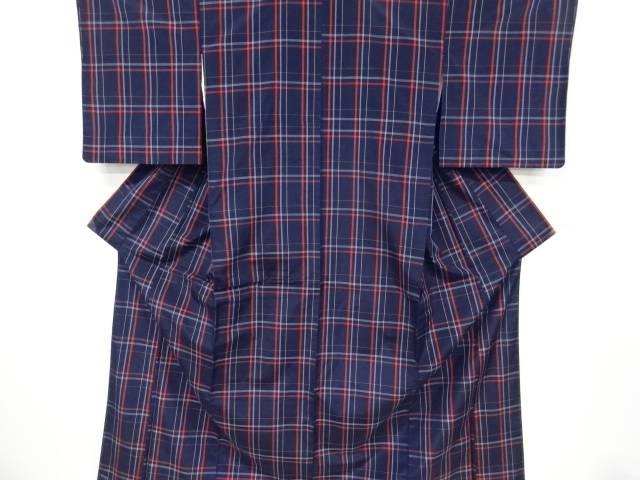 合計3980円以上の購入で送料無料 新商品 人気 未使用品 格子織出米沢紬着物アンサンブル 中古 リサイクル