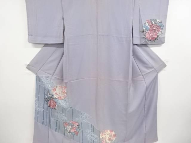 合計3980円以上の購入で送料無料 花丸文に竹笹模様着物 中古 アンティーク 高品質 直輸入品激安