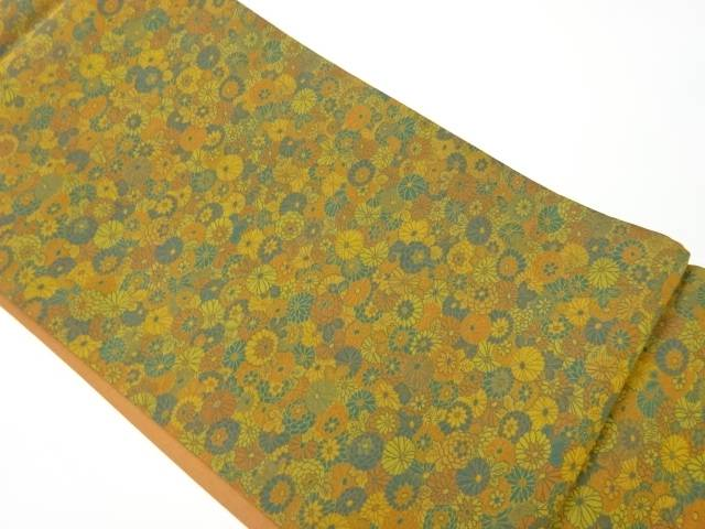 合計3980円以上の購入で送料無料 萬葉製 花々模様織出し全通洒落袋帯 リサイクル 中古 買取 有名な