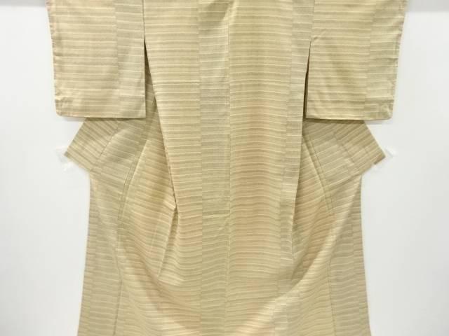 ファッション通販 合計3980円以上の購入で送料無料 横段織り出し本塩沢着物 正規取扱店 中古 アンティーク