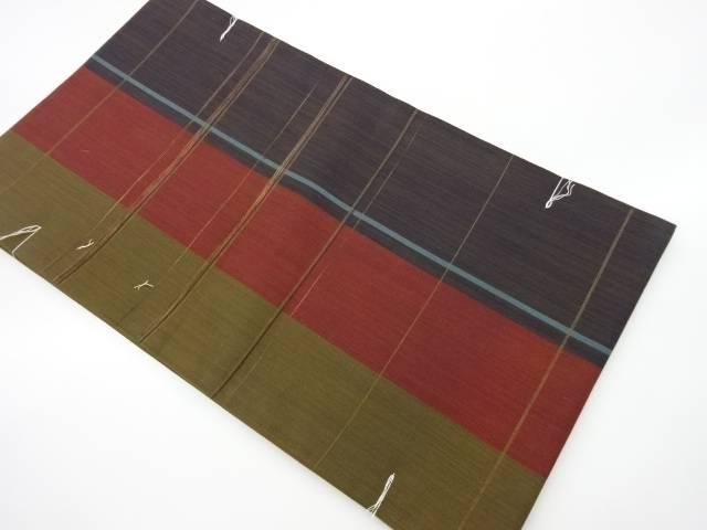 合計3980円以上の購入で送料無料 最安値挑戦 未使用品 縞に横線模様織出し袋帯 リサイクル 中古 特価