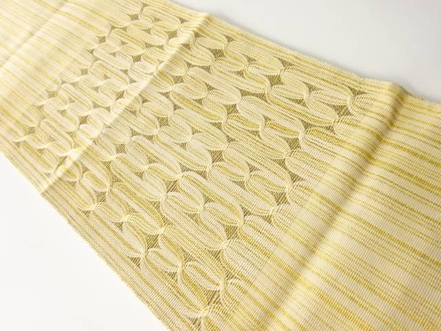 ●手数料無料!! 合計3980円以上の購入で送料無料 変わり織綱模様織り出し袋帯 リサイクル 日本未発売 中古