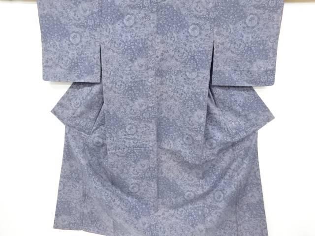 バーゲンセール 合計3980円以上の購入で送料無料 鳳凰に花更紗模様手織り節紬着物 アンティーク 評判 中古
