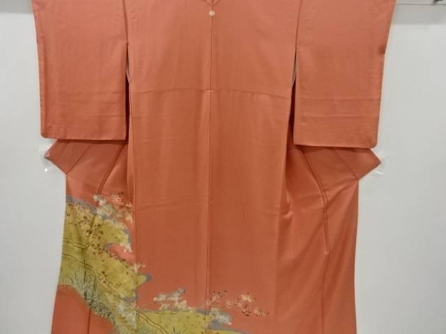 合計3980円以上の購入で送料無料 金彩橋に楓模様一つ紋色留袖 中古 激安通販 リサイクル 当店限定販売