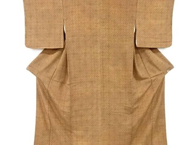 国内即発送 合計3980円以上の購入で送料無料 未使用品 売り込み 幾何学模様小紋着物 中古 リサイクル