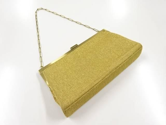 格安店 合計3980円以上の購入で送料無料 金糸織り柄ハンドバッグ アンティーク 高い素材 中古