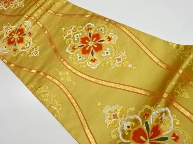 合計3980円以上の購入で送料無料 立涌に華紋模様織出し袋帯 中古 人気ブランド 公式サイト リサイクル