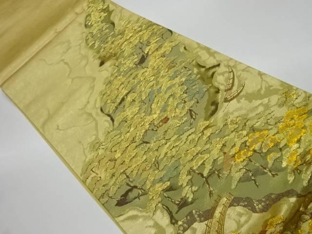 4年保証 合計3980円以上の購入で送料無料 引箔天の橋立寿栄文織出し袋帯 永遠の定番 中古 リサイクル
