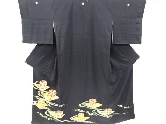 合計3980円以上の購入で送料無料 金彩群鶴に宝尽くし 草花模様刺繍留袖 アウトレットセール おすすめ 特集 比翼付き アンティーク 中古