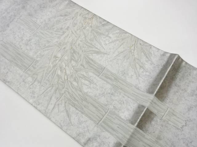 合計3980円以上の購入で送料無料 作家物 引箔竹笹模様織出し袋帯 中古 供え リサイクル 人気上昇中