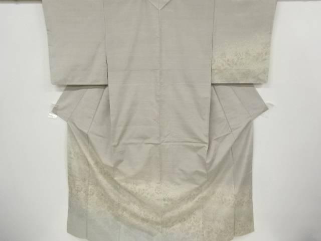 合計3980円以上の購入で送料無料 草花模様織り出し手織り紬着物 アンティーク 中古 贈物 日本産