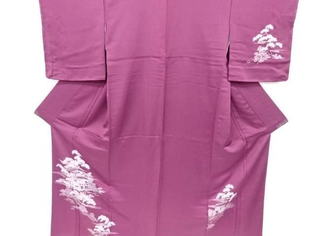 合計3980円以上の購入で送料無料 屋敷に松模様刺繍訪問着 日本未発売 中古 リサイクル 最安値に挑戦