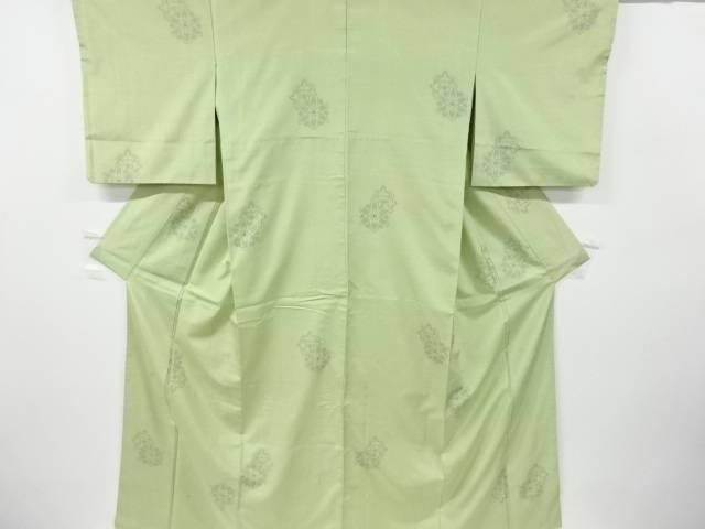 送料込 人気の製品 合計3980円以上の購入で送料無料 花模様織り出し十日町紬着物 アンティーク 中古