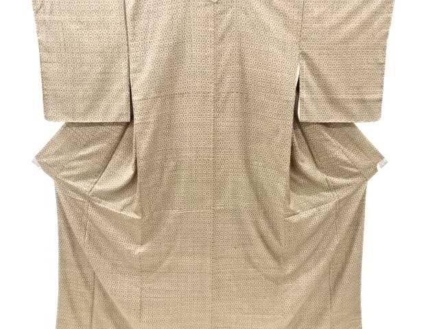 期間限定特価品 合計3980円以上の購入で送料無料 菱に抽象模様織り出し本場泥大島紬着物 5マルキ 新品 中古 リサイクル