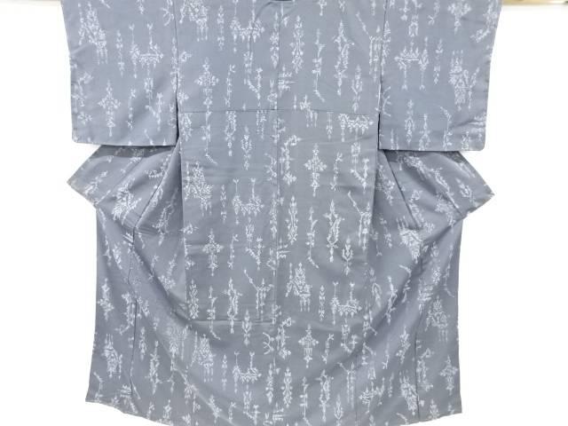 人気の定番 合計3980円以上の購入で送料無料 新作入荷 抽象模様織り出しお召着物 大正ロマン 中古