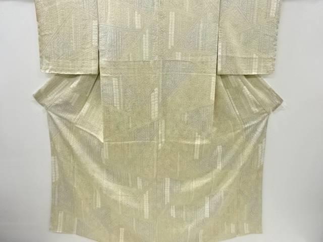 購入 メーカー公式 合計3980円以上の購入で送料無料 絞り切りばめ風抽象模様小紋着物 リサイクル 中古