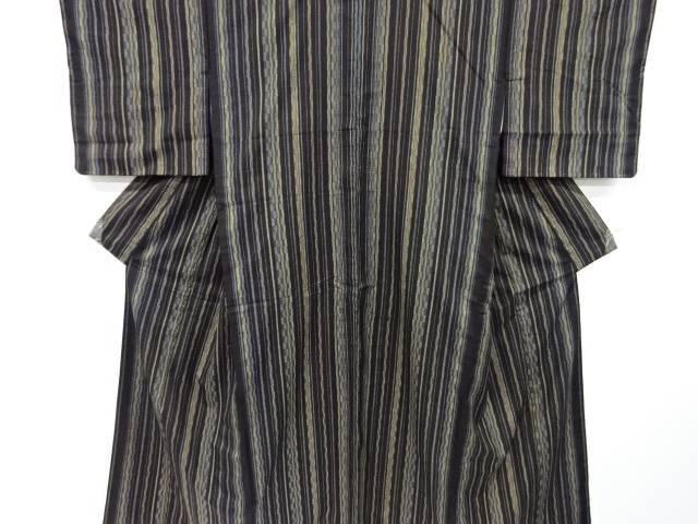 合計3980円以上の購入で送料無料 縞織り出し手織り紬着物 正規激安 大正ロマン 中古 数量限定アウトレット最安価格