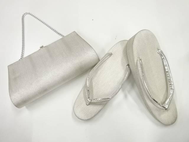 合計3980円以上の購入で送料無料 抽象模様織出し和装バッグ 草履セット <セール&特集> 草履23センチ 市販 中古 アンティーク