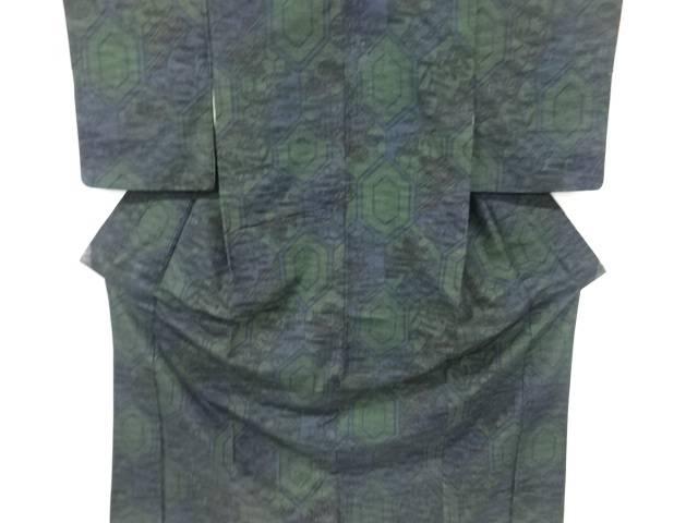 合計3980円以上の購入で送料無料 祝日 亀甲に花古典柄織出し十日町紬着物 中古 アンティーク 『4年保証』