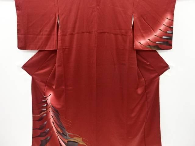 ついに入荷 合計3980円以上の購入で送料無料 抽象鶴模様訪問着 人気の製品 中古 リサイクル