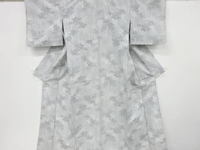 合計3980円以上の購入で送料無料 竹笹模様織り出し手織り紬単衣着物 中古 リサイクル バースデー 記念日 ギフト 贈物 お勧め 通販 高価値